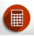 calculator web icon vector image