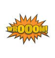 comic boom sticker icon flat style vector image