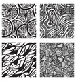 four vector seamless abstract backgrounds vector image