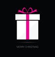 merry christmas gift box vector image