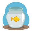 pet fish bowl icon vector image