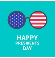 Round glasses with stars and strips Presidents vector image