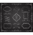 Set of Chalkboard Banners vector image