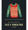 sweater invitation 3 vector image