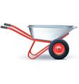 wheelbarrow on white vector image