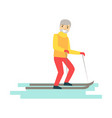 young man cross country skiing winter sports vector image