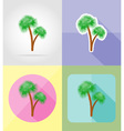 objects for recreation a beach flat icons 11 vector image vector image