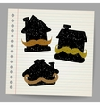 House with mustaches doodle concept vector image vector image