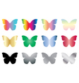 color and black butterflies vector image vector image
