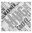 mug warmer Word Cloud Concept vector image