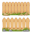 seamless horizontal backgrounds with wooden fences vector image