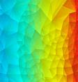 Abstract rainbow polygonal vector image