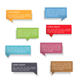 Speech Bubbles with Shadows vector image
