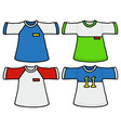 Color sports shirts vector image