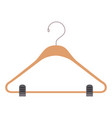 colorful silhouette of clothes hanger vector image