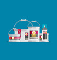 flat design icons set of painting vector image