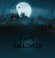 Halloween castle landscape vector image