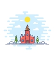 Line Style Christmas Day vector image