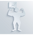 Muscled Body background Eps10 vector image