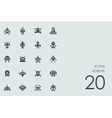 Set of robots icons vector image