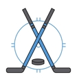 Sport team hockey badge vector image
