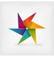 rainbow pinwheel symbol vector image