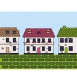 town colorful vector image