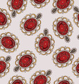Beautiful seamless pattern with fashion jewelry vector image vector image