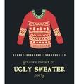 sweater invitation 4 vector image