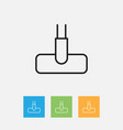of hygiene symbol on vacuuming vector image