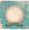 retro background with napkin vector image vector image