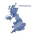 United Kingdom map vector image