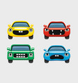 car emoticon car face smiles icons set vector image