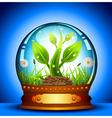 Glass ball vector image
