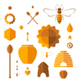 Honey Icon set vector image