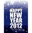 new year sparkle vector image
