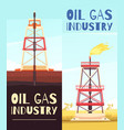 oil refining venture banners vector image