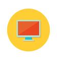 PC display icon over orange vector image