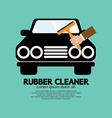 Rubber Window Cleaner vector image
