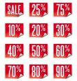 set of curled price labels vector image