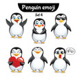 set of cute penguin characters set 4 vector image