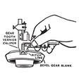 vernier caliper vintage engraving vector image