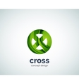 cross logo template vector image