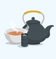 teapot classic isolated icon vector image