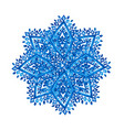blue winter snowflake vector image