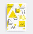 bright design poster vector image