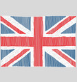 hand drawn english flag vector image