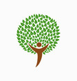 human tree concept for social help vector image