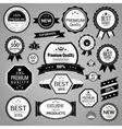 Black sale labels set vector image