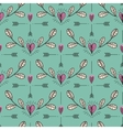 Hearts twig and arrows pattern vector image